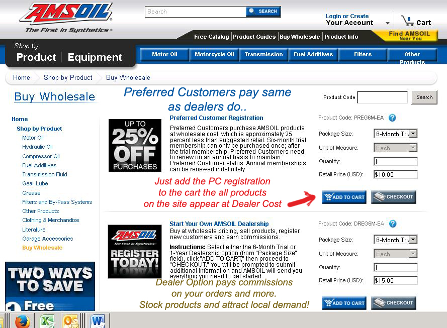 Amsoil preferred customers save more