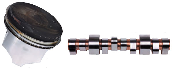 The camshaft shows little-to-no scoring, bluing or wear after 3,000 miles of high-performance racing.