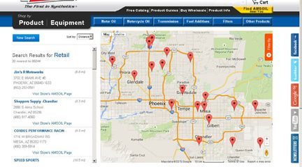 Customers find AMSOIL the easy way on the Locator