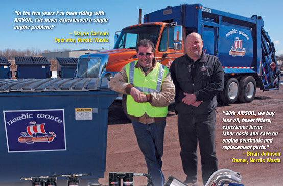 garbage truck fleet saves thousands with AMSOIL