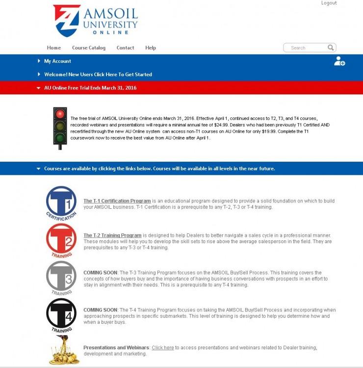 Amsoil Training Online