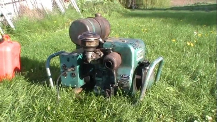 Vintage Onan Gasoline Generator benefits with Synthetic Oil