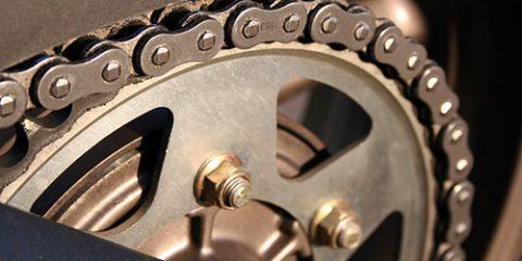 motorcycle chain needing lube
