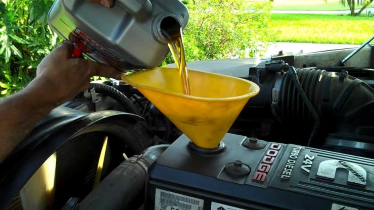 changing diesel oil