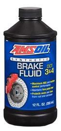 DOT 3 and DOT 4 Synthetic Brake Fluid