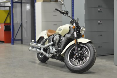 Indian Scout in AMSOIL's test lab