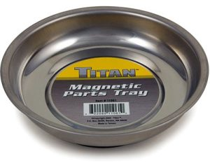 Handy tools for any garage - magnetic parts tray!