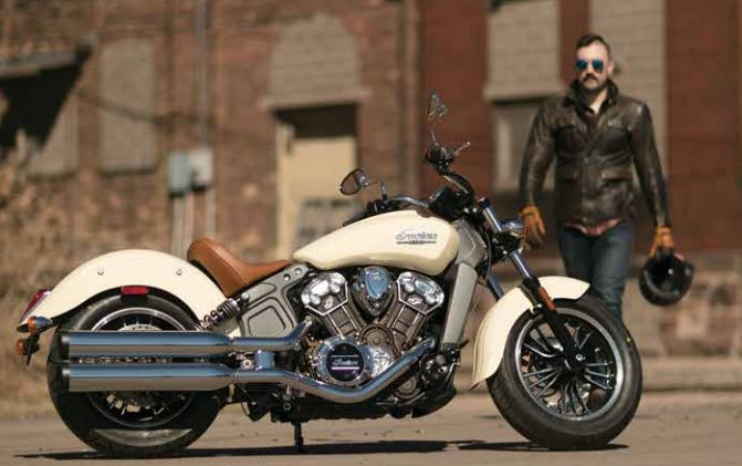 tough guy on Indian Motorcycle