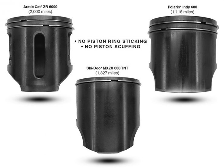 sled pistons clean no wear due to Amsoil interceptor