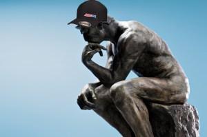 Dobie Gillis Statue thinking w/ Amsoil cap