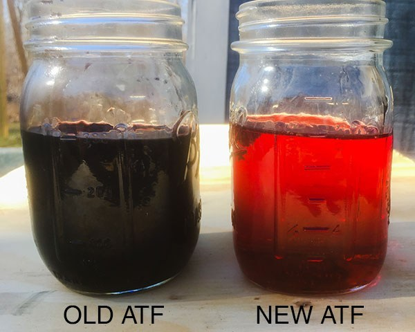 old transmission fluid lifetime fill