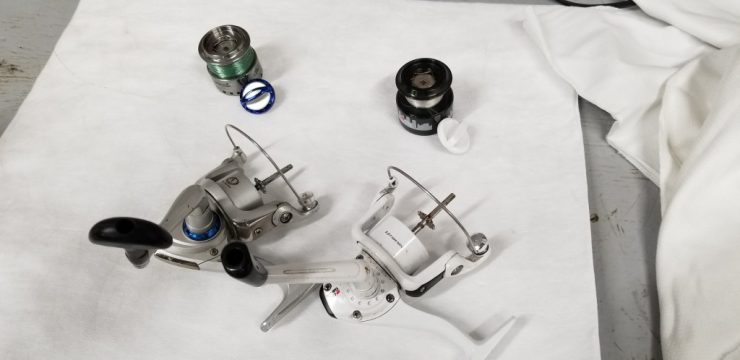 disassembly of fishing reel spinner